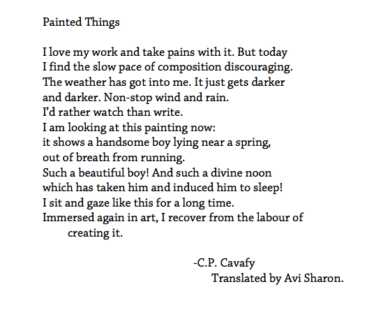 Painted Things - Cavafy